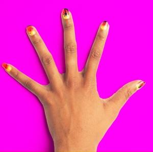 palmtree nail art