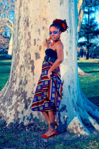 Blue shooting en exterieur de Mayan Art