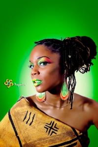 shooting vert jaune rouge Mayan Art