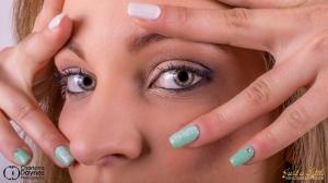 Gel nails dentelle et effet knit