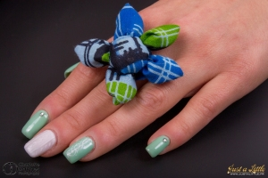 gel nails Nail art effet knit