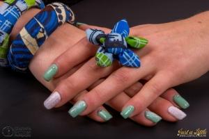 GeelNails effet knit et dentelle