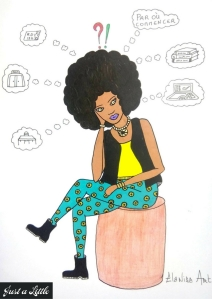 "Illustration ""Par où commencer"" par Elanise art pour le blog Just Be You"